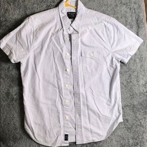 Men's Abercrombie Blue/White Striped Button Down